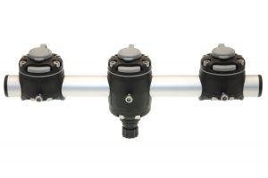 Round rail with three mounts FASTen (350 mm, one fastening point)